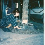 Me in Paris where I discovered a typewriter!